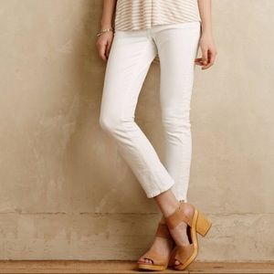 Anthro Pilcro Stet White Skinny Stretch Jeans